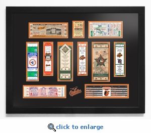 Baltimore Orioles Tickets To History Framed Print #orioles #ticketstohistory #baltimoreorioles