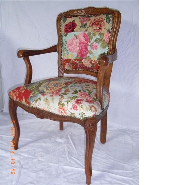 bunter patchwork Stuhl vintage Chippendale von chippendaleflair auf DaWanda.com