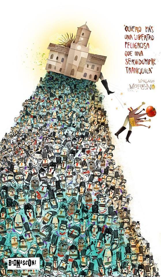 """¿Por qué el 25 de mayo fue día feriado en la Argentina? """"Mariano Moreno""""; artista: Pablo Bernasconi. https://www.facebook.com/bernasconipablo/photos/a.305154416242351.71313.153711281386666/1019207581503694/?type=3&theater"""