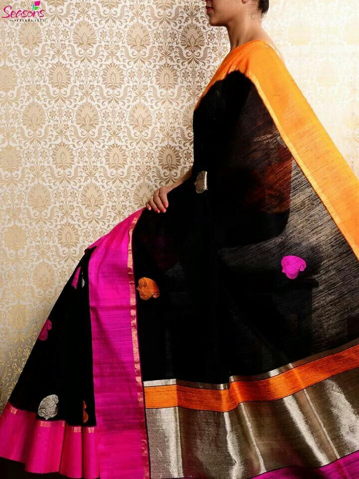 Raw silk handloom saree from Seasons, Varanasi