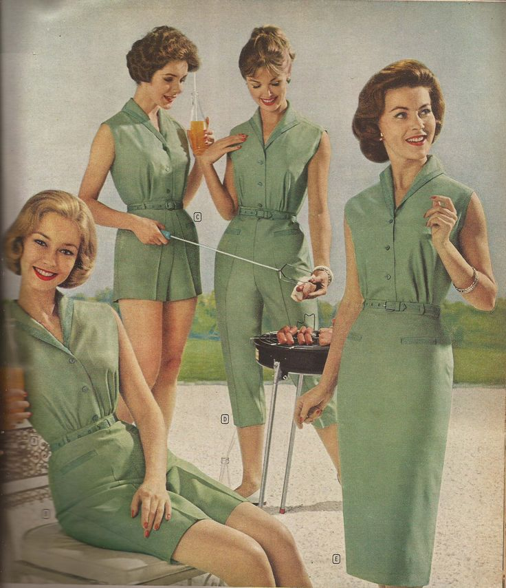 Springtime /Let's have a barbeque ...and let's all dress identically... Guaranteed fun...