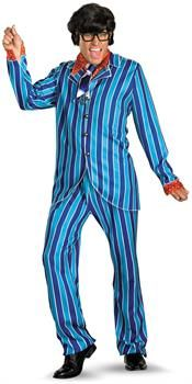 PartyBell.com - Austin Powers Carnaby Street Blue Suit Deluxe Adult Costume