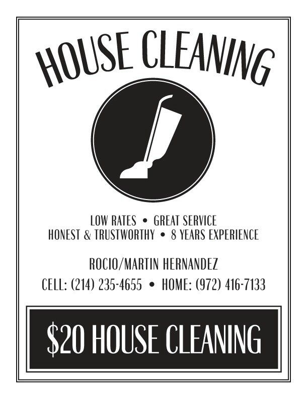 31 best Cleaning Service Flyer images on Pinterest Advertising - house cleaning flyer template