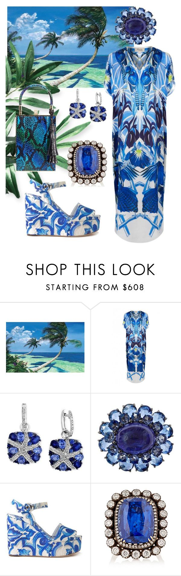 """""""By the Sea"""" by neverboring on Polyvore featuring Temperley London, Effy Jewelry, Rebecca Koven, Dolce&Gabbana, MUNNU The Gem Palace and Jill Haber"""