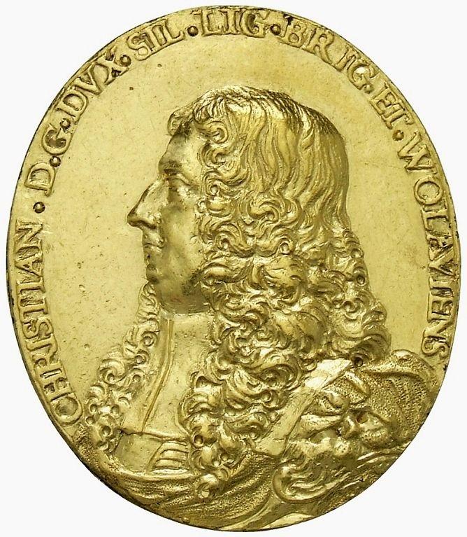 Gold medal of Christian of Liegnitz-Brieg (Legnica-Brzeg) by Daniel Vogt, 1663, Münzkabinett der Staatlichen Museen zu Berlin