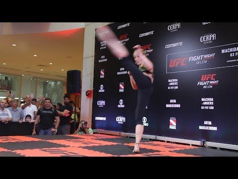 MMA Valentina Shevchenko Shows Off Striking Dance at UFC Belem Workouts - MMA Fighting