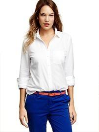 Petite women's tops: long-sleeved, short-sleeved, and more at gap.com.   Gap  perfect oxford shirt