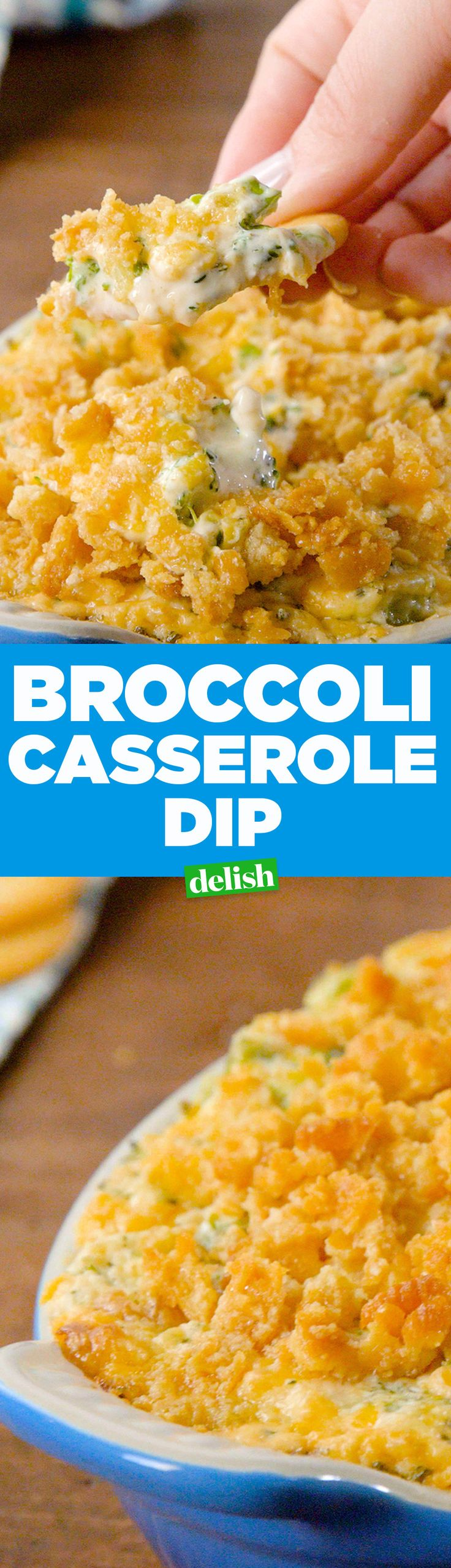 This Broccoli Casserole Dip will make you flip. Get the recipe on Delish.com.