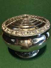 """Large Vintage Ianthe Silver Plate Rosebowl - Made in England - 6"""" Wide x 5"""" High"""