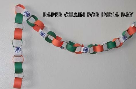DIY Decorative Paper Chain For Indian Independence Day