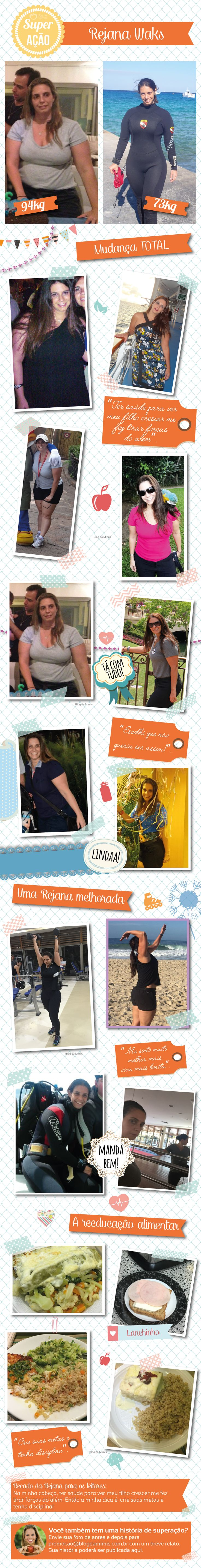 Superação Rejana: vida nova ao vencer o câncer e a obesidade - Blog da Mimis #superação #emagrecer #diet #dieta #câncer #saúde