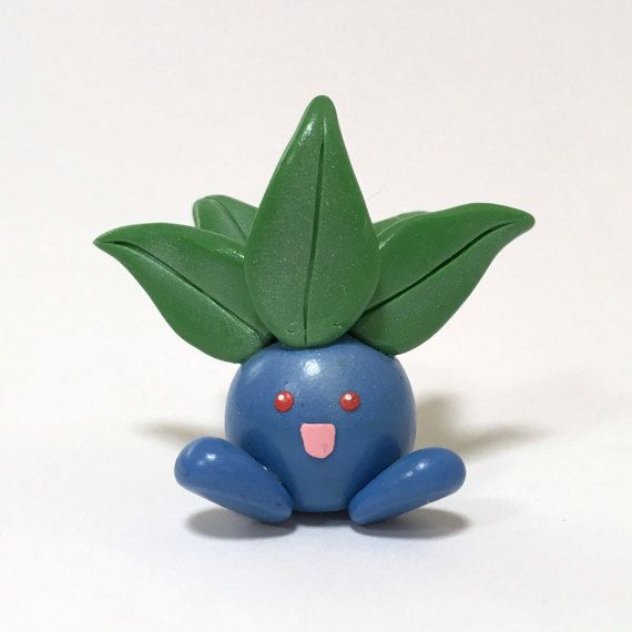 Collectable Polymer Clay Pokemon Figurine Oddish Handmade