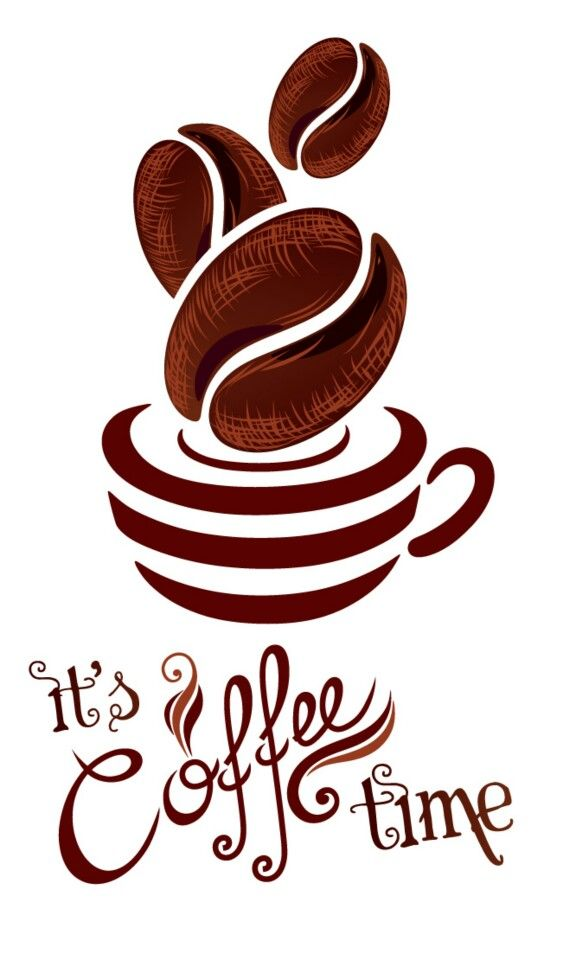 I want to replicate this for a mug! Or maybe a shirt. Or a clock. Because, let's face it, it's almost ALWAYS coffee time! Thanks @Sally McWilliam McWilliam Baumbach!