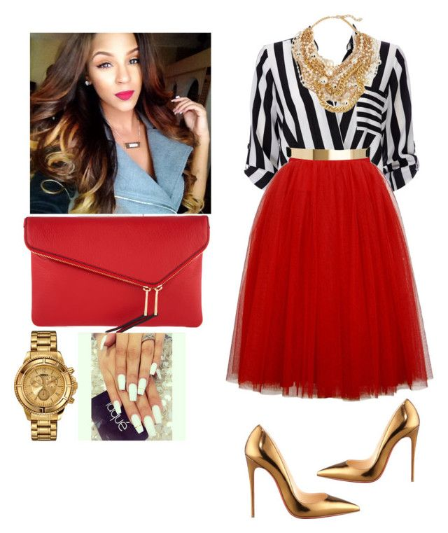 """Concert With Tasha Cobb"" by cogic-fashion ❤ liked on Polyvore featuring MICHAEL Michael Kors, Wallis, Kenneth Jay Lane, Henri Bendel, Versus, Christian Louboutin and ASOS"