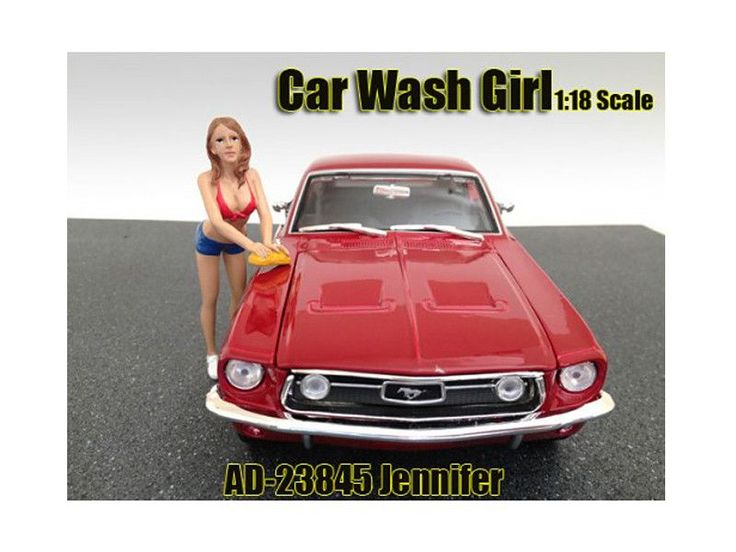 Car Wash Girl Jennifer Figure For 1:18 Scale Models by American Diorama