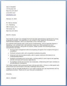 administrative assistant cover letter examples - Cover Letters For Administrative Assistants
