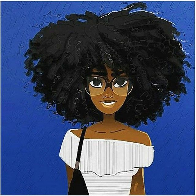 Bigger the hair, the bigger the stare  #2frochicks #afro #hair #natural #illustration