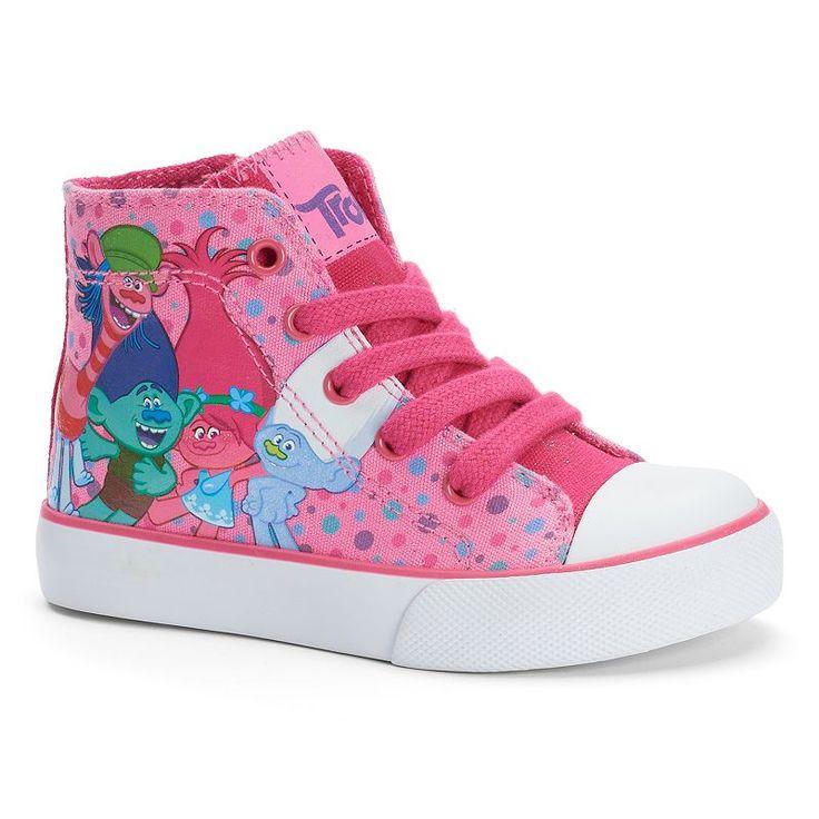 DreamWorks Trolls Toddler Girls' High-Top Sneakers, Girl's, Size: