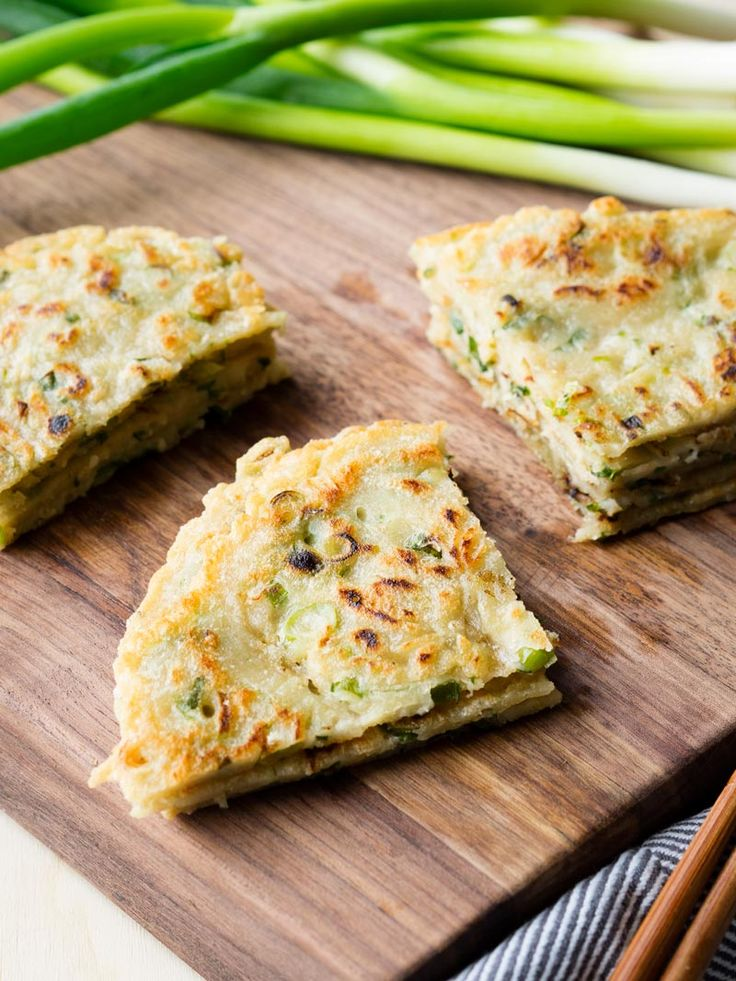 Have quick and easy Chinese Scallion Pancakes cooking on the stove top within five minutes. Only one bowl and one pan needed for this savoury pancake recipe