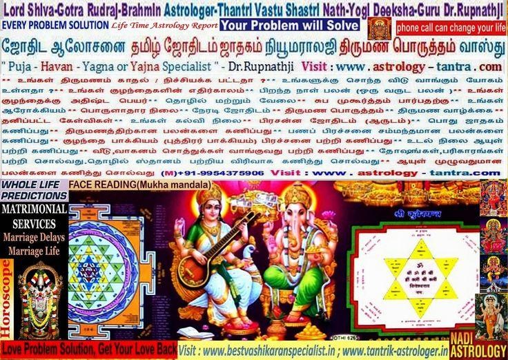 Pudukkottai Ramanathapuram Salem Sivagangai Astrologer-Thantri Deeksha-Guru