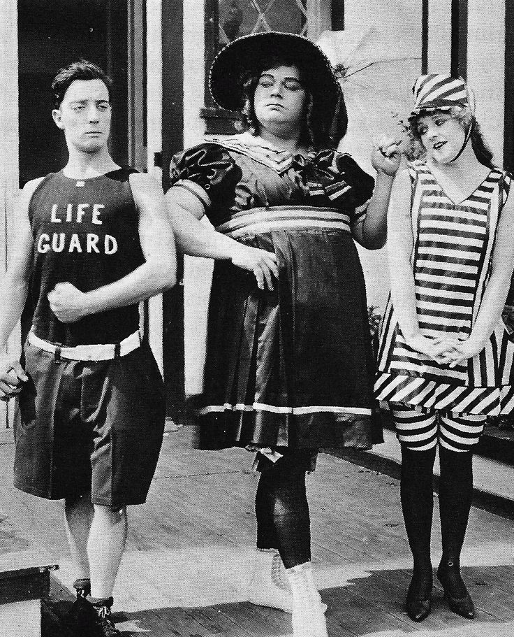 Buster Keaton, Roscoe 'Fatty' Arbuckle, and Alice Lake 'Coney Island' -1917