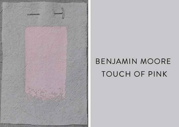 Benjamin Moore Touch of Pink, Best Pink Paint Colors, Remodelista