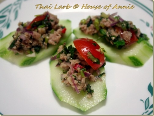 Thai larb. Made this with chicken instead of pork and limes instead of ...
