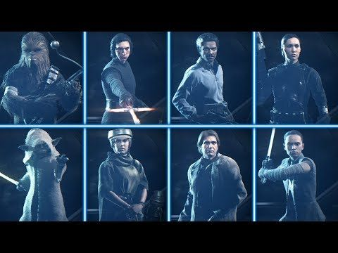 ALL 8 NEW HERO SKINS WITH GAMEPLAY! Star Wars Battlefront 2   Star