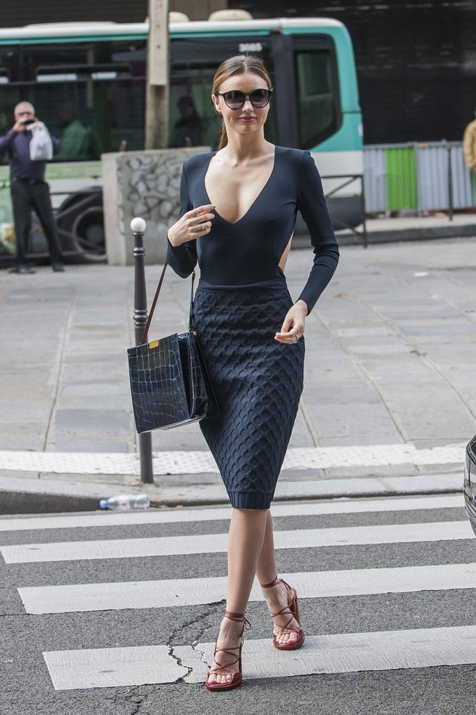 @roressclothes closet ideas #women fashion outfit #clothing style apparel Miranda Kerr V-neck Dress