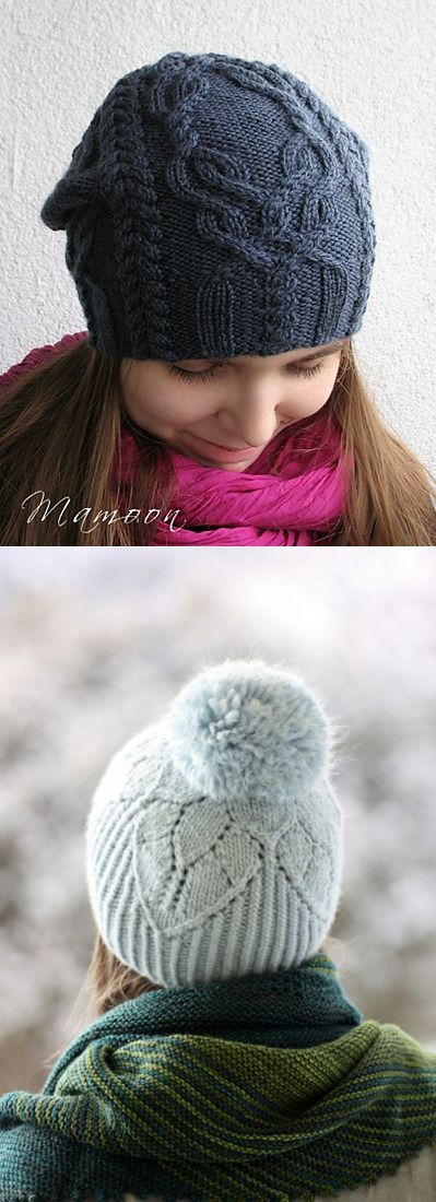 Две шапочки с описанием и схемами - Вязание спицами - Страна Мам