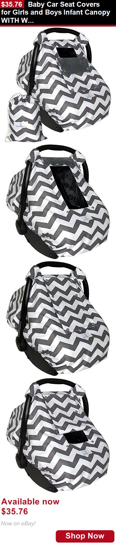 Car Seat Accessories: Baby Car Seat Covers For Girls And Boys Infant Canopy With Window-Flap System... BUY IT NOW ONLY: $35.76