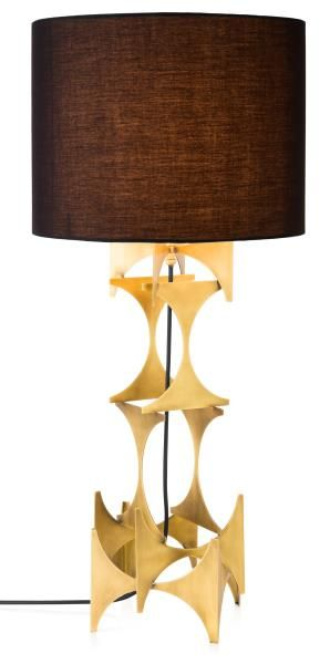 TOP PICK by LISA FERGUSON http://lisafergusoninteriordesign.com/ M3LD   Judith Table Lamp   Our Judith light is a hand-welded, brutalist inpired statement. Manufactured in solid steel, a warm, burnished brass finish lends this table lamp some softness—but you'll still know who's the boss when Judith's in the room #HPmkt
