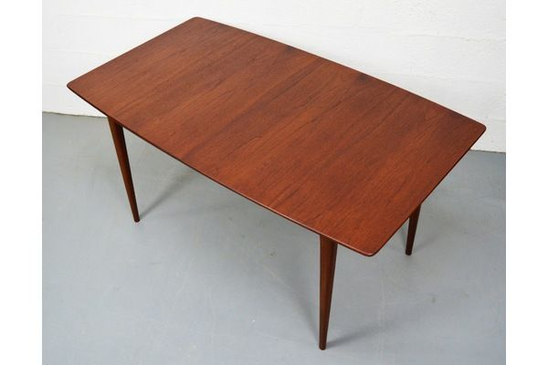 Mid Century Teak Boat Shaped Dining Table By McIntosh | Vinterior London  #vintage #design #interiors #furniture