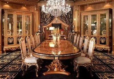 Luxury Dining Furniture Exquisite Boulle Marquetry Work European Made Boul