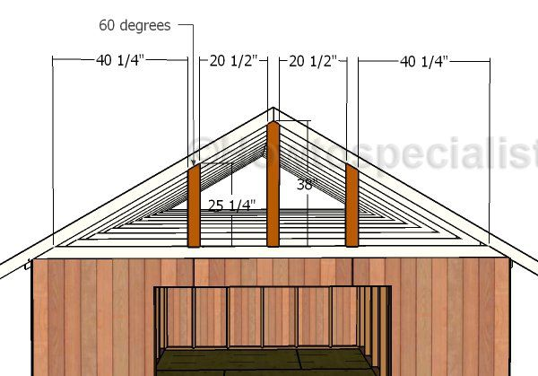 12x20 Gable Roof Plans Howtospecialist How To Build Step By Step Diy Plans Shed Plans Diy Shed Plans Roof Plan
