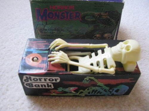 RARE Vintage Horror Monster Wind Up Bank with Original Box | eBay