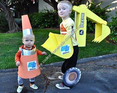 coolest homemade backhoe halloween costume brother - Halloween Costume For Brothers