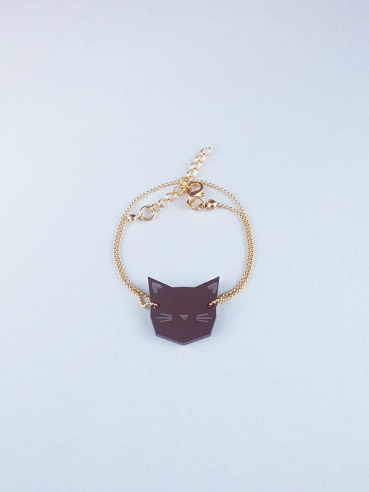 Bracelet Chat noir par Helmut - Youmayloveit-shop.com