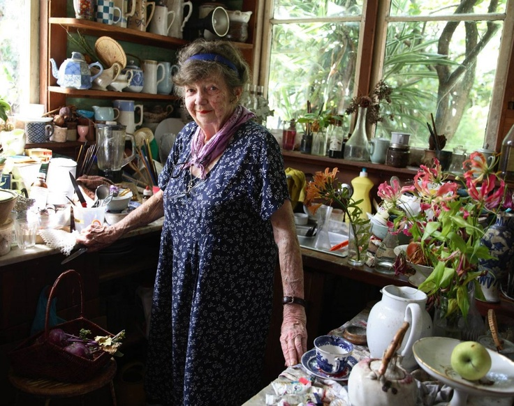 Margaret Olley, Australian artist at home in Paddington, Sydney