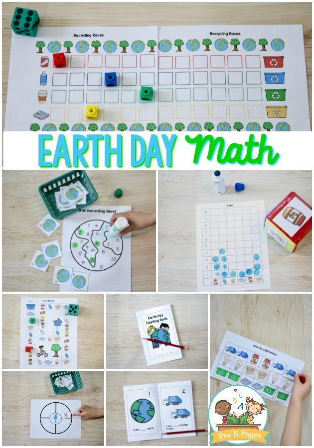 Earth Day Math Preschool Math Games Math Activities Preschool