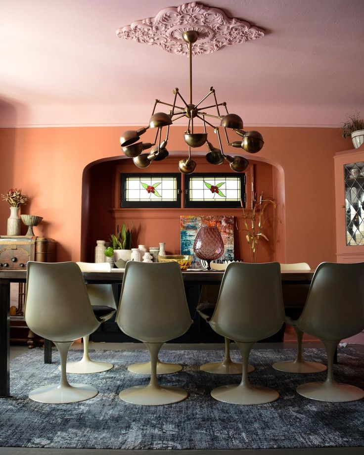 50 Bold And Inventive Dining Rooms With Brick Walls: Farrow, Ball Paint, Paint Color Schemes