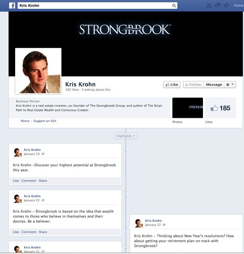 Kris Krohn Facebook