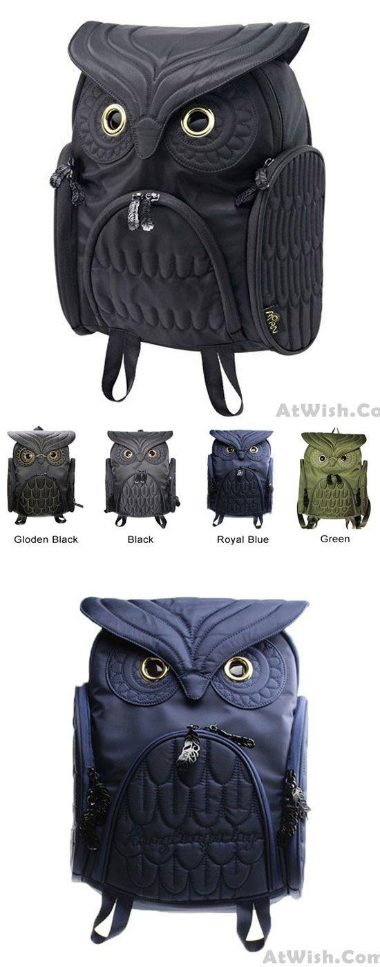 Fashion Street Cool Owl Shape Solid Computer Backpack School Bag Travel Bag for big sale ! #owl #cool #backpack #school #bag #retro #galaxy #rucksack #college