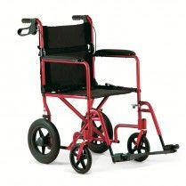 """Chaise roulante de transport en Aluminium de #Invacare - Roues arrières de 12"""" - #FauteuilCompagnon - Disponible en Rouge et Bleu - #LivraisonauCanada et partout au Québec -  http://mobiliexpert.com/fr/chaise-roulante-de-transport-en-aluminium-de-invacare-roues-arrieres-de-12.html"""