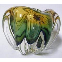Multi-Colored Art Glass Vase/Bowl
