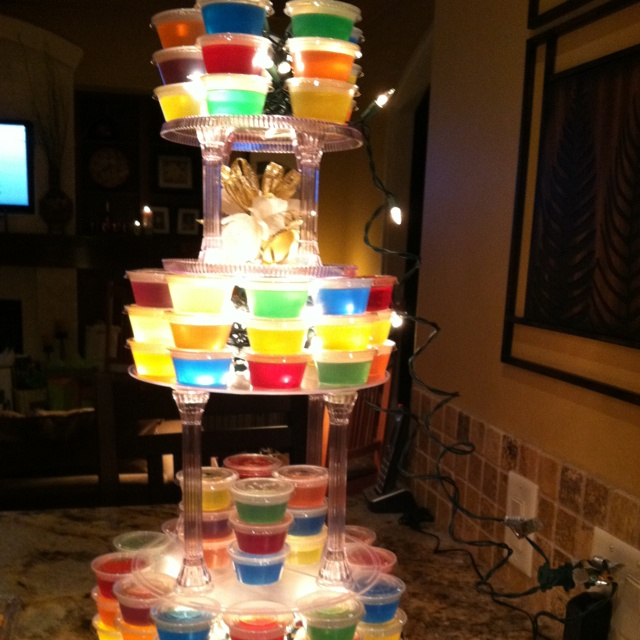 wedding cake jello shot recipe jello cake stand luau receptions we 22993