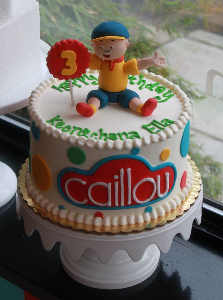Caillou cake -Arianna wants a Caillou cake for her birthday...never actually thought I would see one! :)
