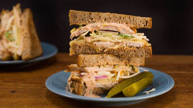 These sandwiches are a great way to use up leftover turkey from Thanksgiving!