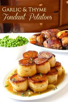 Garlic Thyme Fondant Potatoes - a homey yet elegant side dish that proves delicious taste never goes out of fashion. Perfect for dinner parties or Sunday dinner.