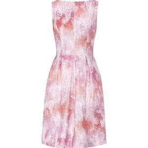 Lela Rose Metallic tweed dress